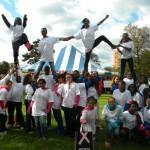 Albany Varsity Cheer at Breast Cancer Walk